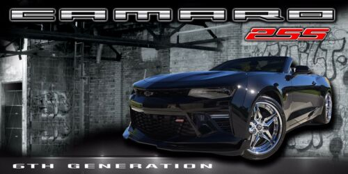 Chevrolet Chevy Camaro 6th Gen SS 2SS 2016-2017  Vinyl Banner Sign Garage Art