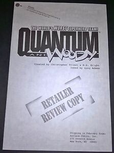 Details about Quantum and Woody #1 Retailer Review Acclaim Valiant 1997 TV  Show Low Print Run
