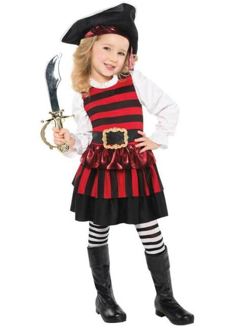Age 3-12 Girls Boys Pirate Toddler Costume Kids Childrens Book Week Fancy Dress