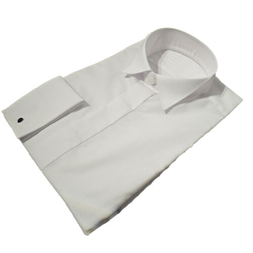 New Mens Quality Wing Collar Dress Shirts White All Sizes