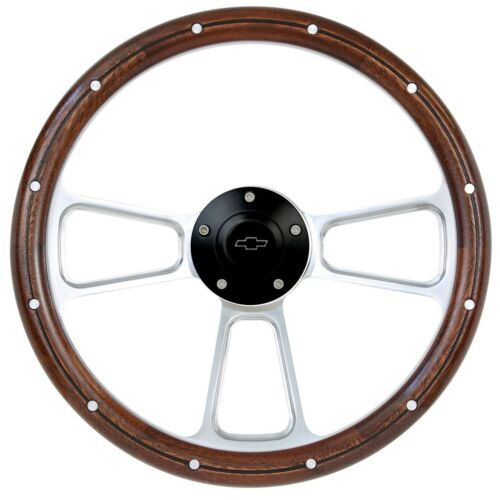 1960-69 Chevy C//K Series Pick-Up Billet /& Wood Steering Wheel... Details about  /NEW ITEM