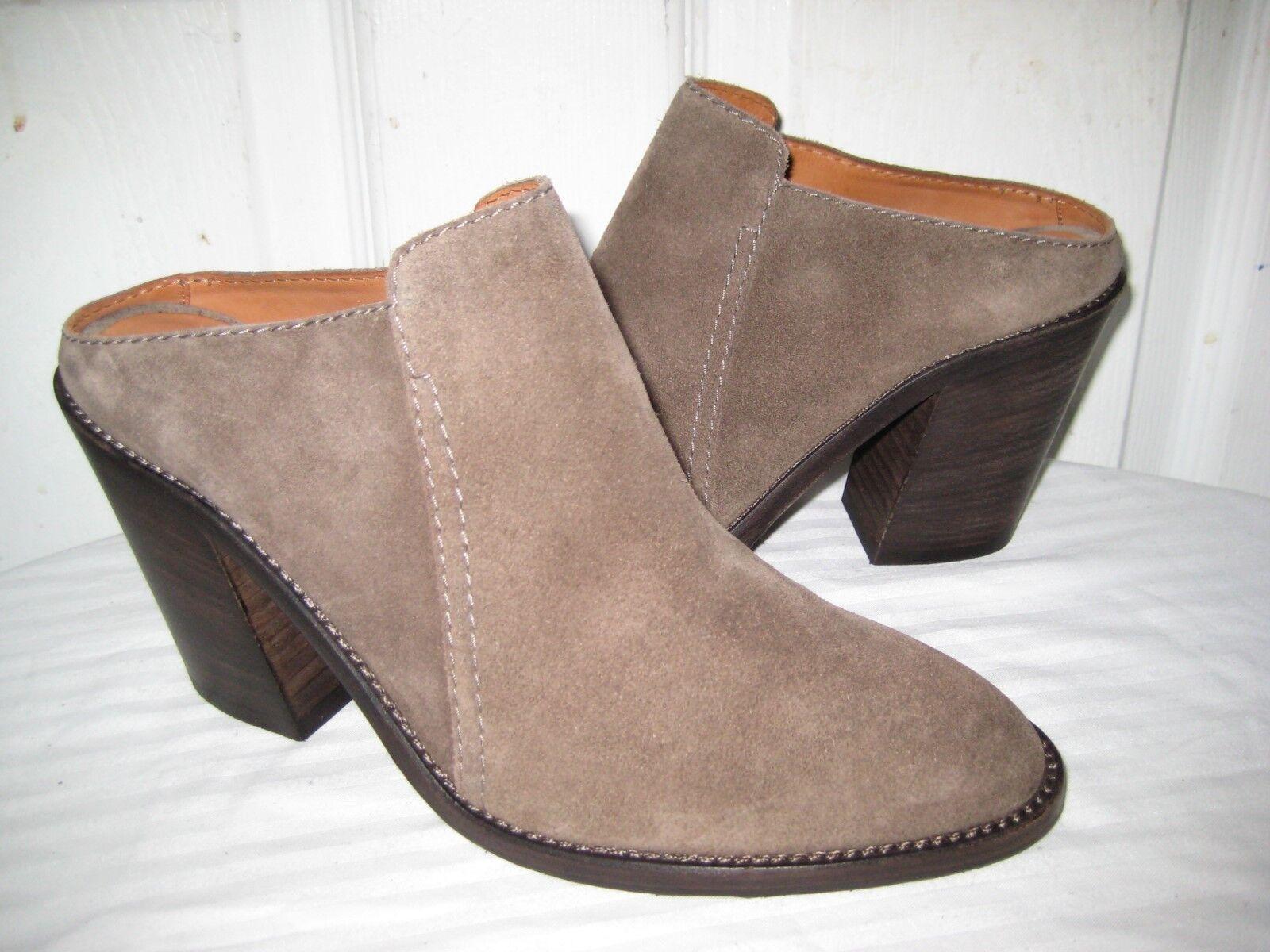 Aquatalia Aquatalia Aquatalia  Libby Brush Oil Suede Leather Mule shoes Womens Size 9 c15bdd