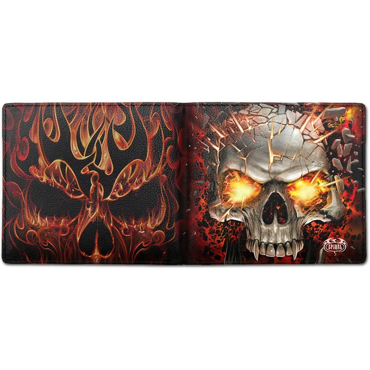 SPIRAL DIRECT SKULL BLAST BIFOLD WALLET WITH RFID BLOCKING AND GIFT BOX