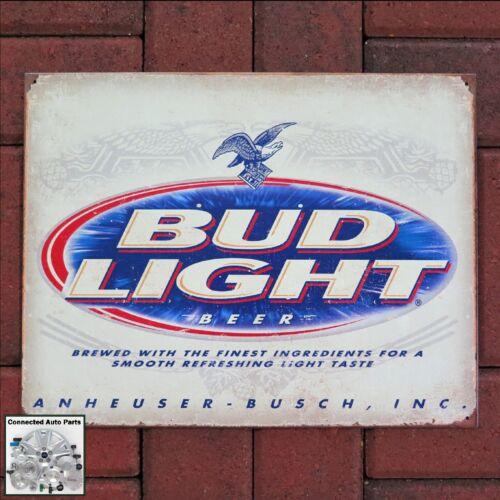 BUD LIGHT BEER ANHEUSER BUSCH Tin Sign Garage Shop Man Cave Bar Alcohol S-2184