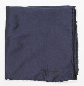 Salvatore-Ferragamo-Solid-Navy-Blue-Twill-Silk-Hand-Rolled-Pocket-Square