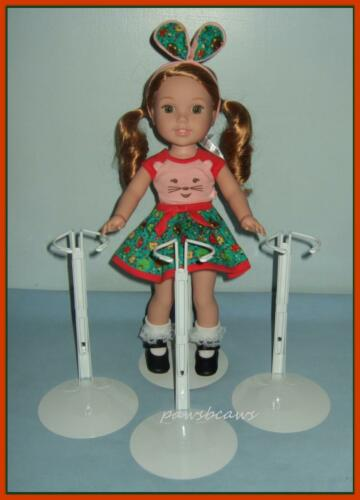 """3 KAISER Doll Stands fit 14.5/"""" AG WELLIE WISHERS Hearts for Hearts GLITTER GIRLS"""