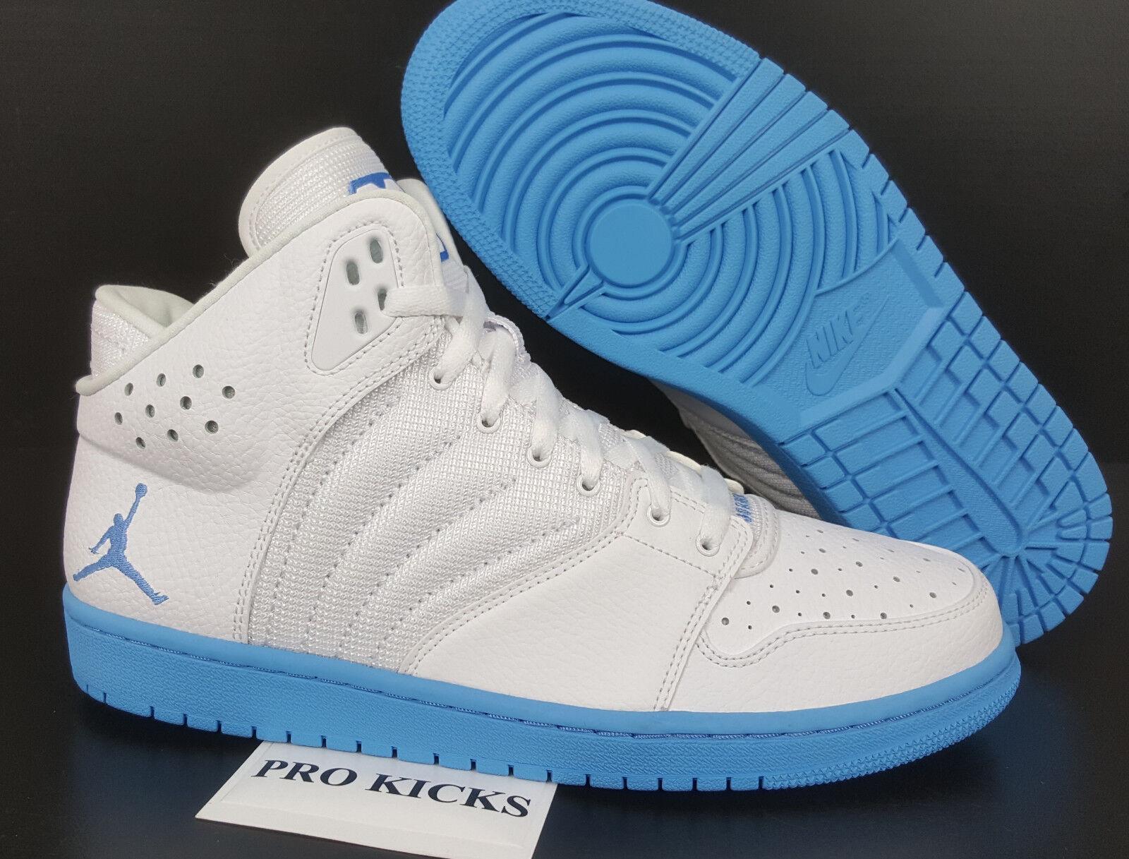 NIKE AIR JORDAN 1 FLIGHT 4 PREMIUM WHITE UNIVERSITY BLUE NEW 838818-141 =SIZE 13 best-selling model of the brand