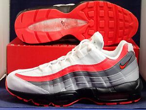 Nike Air Max 95 Essential Comet Mens 749766-112 Grey Crimson Shoes Size 10.5