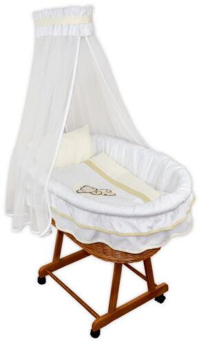 Baby Stubenwagen Janina Babykorb Bettwäsche Applikation EU-Produkt Design 4M