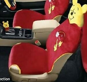 Disney Winnie The Pooh Car Seat Cover With Headrest Rainbow Collection