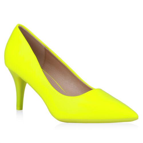 Damen Spitze Pumps Stiletto Heels Elegante Lack Business Schuhe 899015 Top
