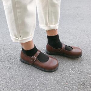 Chic-Womens-Flat-Retro-Pump-Shoes-Girls-Sweet-Lolita-Shoes-College-Japanese-Sbox