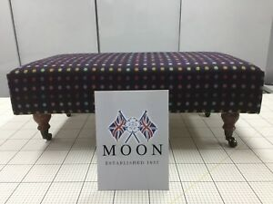 Industrious New Handmade Large Footstool Upholstered Moon 100% Wool Fabric Home, Furniture & Diy Furniture Multispot Wine Comfortable And Easy To Wear