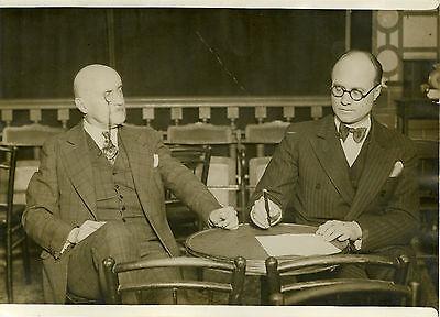 """""""interview De Mr Joseph Caillaux 1931"""" Photo Originale G. Devred / Agce Rol Fortalecimiento De Los Tendones Y Los Huesos"""