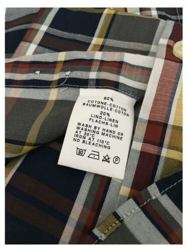 GMF 965 camicia con taschino quadri madras grigio//moro//giallo mod 10.TG.L 901336