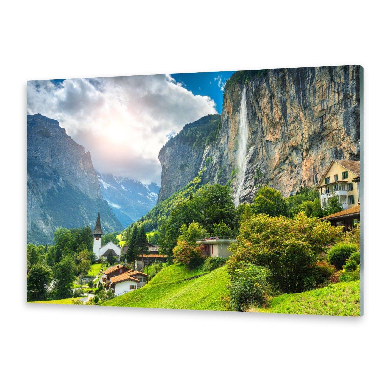 Acrylglasbilder Wandbild aus Plexiglas® Bild Alpines Dorf