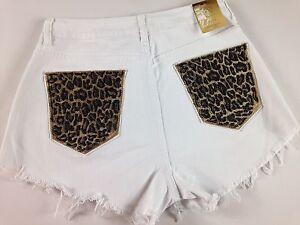 Nicki-Minaj-Shorts-Big-Butt-Booty-White-Leopard-Frayed-Cheetah-High-Rise-Stones