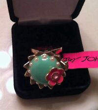ORIGINAL Betsey Johnson Tea Party Princess Mouse Cupcake Charm Ring NWT!