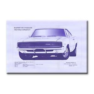 Cc arte 1968 dodge cargador rt blueprint canvas 24 pulgadas x 36 cc arte 1968 dodge cargador r t blueprint canvas malvernweather Gallery