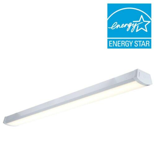 White LED Flush mount Wraparound Light 2400 Lumens 4000K color temperature 4 ft