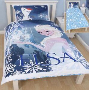 DISNEY FROZEN ELSA AND OLAF SINGLE REVERSIBLE DUVET SET QUILT ... : frozen quilt cover - Adamdwight.com