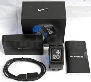 1867155c8 NEW Nike+ Plus GPS Sport Watch Blue/Anthracite TomTom Fitness Runner ...