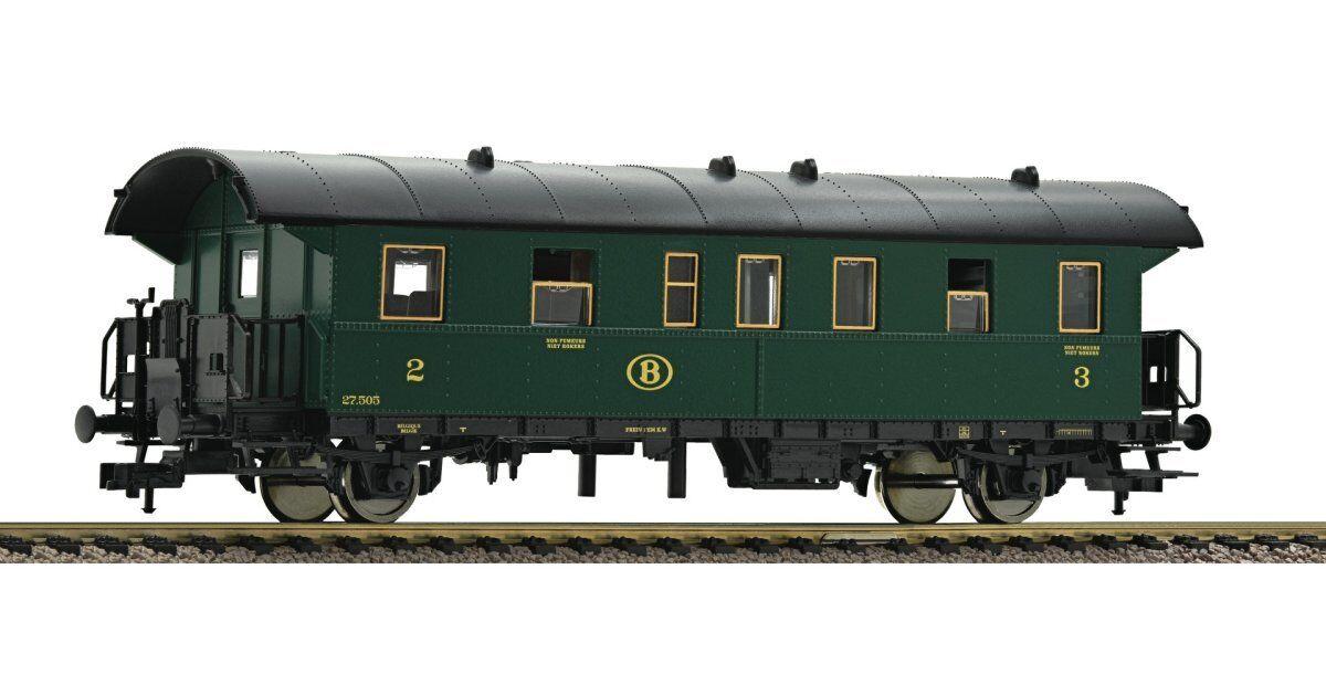 Fleischmann 5077 07 personenwagen 2.   3.kl.serie 27, sncb, ep.iii   31202