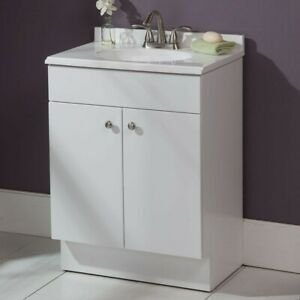 Details About 24 In. W X 35 In. H X 17 In. D Bathroom Vanity In White With  Vanity Top In White