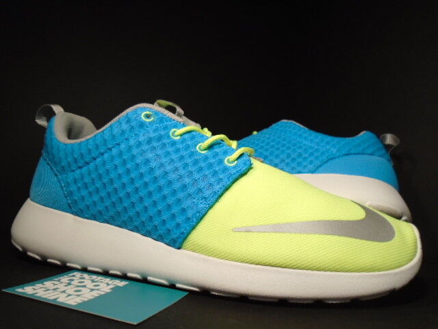 Nike ROSHE RUN ROSHERUN FB CURRENT blueE CHROME LIME YELLOW WHITE 580573-401 10