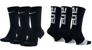 Details about NIKE Elite Everyday Crew Socks 3-Pack Black/White/Multi Men's  sz 6~8/8~12/12~15