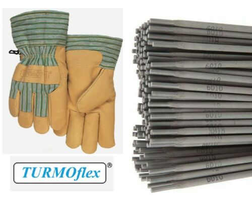 """Stick Electrodes 6010 5//32/"""" 10Ibs Welding Rod E6010 5//32/"""" With Weldas Work Glove"""