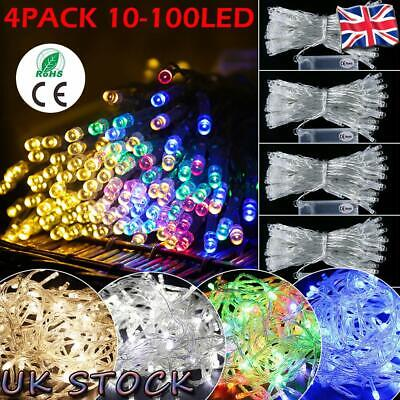 UK Xmas LED String Fairy Lights Battery Operated In//Outdoor Christmas Home Decor