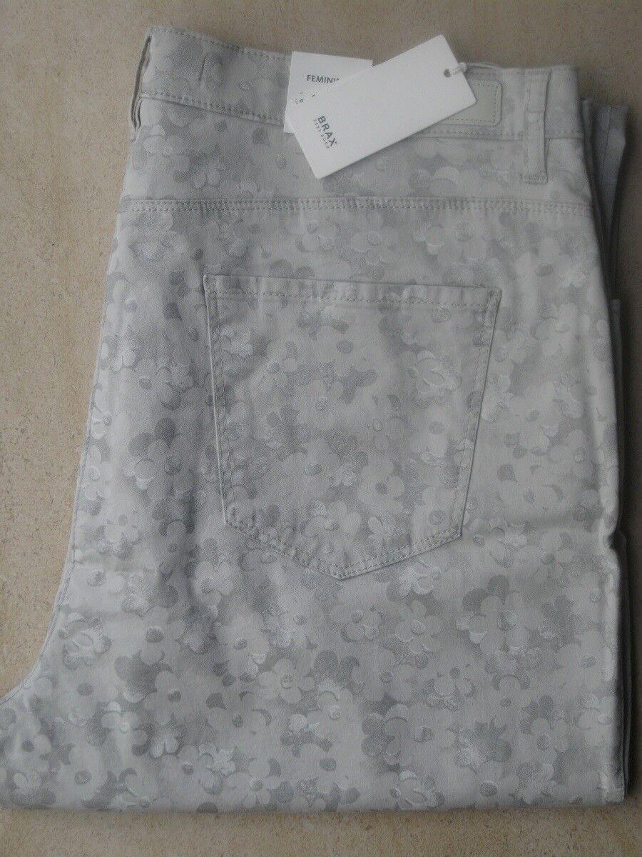 BRAX Jeans Stretchjeans Carola  grau bedruckt softe Sommerualität neu