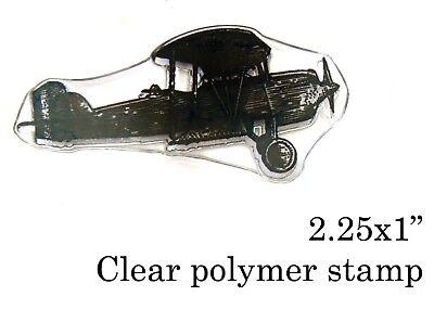 Vintage airplane rubber stamp P49C