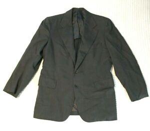 Vintage-Hickey-Freeman-Mens-Gray-Wool-Blazer-Jacket-Gano-Downs-Denver-Charcoal