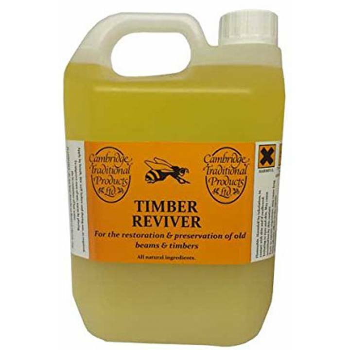 Cambridge Traditional Natural Timber Reviver 1 Litre Beeswax Furniture Polish