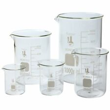 New Listingglass Lab Pyrex Beaker Piece Set Measuring Cup 501002505001000 Ml Pack Of 5