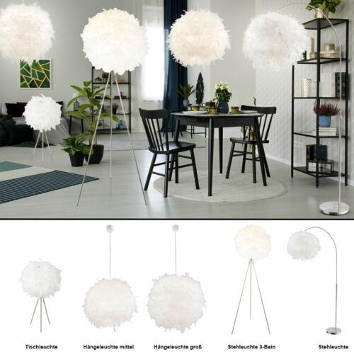 Decken Hänge Lampe Feder Kugel Wohn-Zimmer Steh Boden Leuchte Bogen Stand Licht