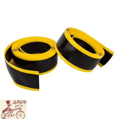 """MR TUFFY BICYCLE TIRE LINER YELLOW 20 X 1.5-1.9/"""" PAIR"""