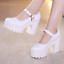 High-Heel-2019-Women-Platform-Shoes-Catwalk-Party-Prom-Heeled-Closed-Toe-Buckle thumbnail 9
