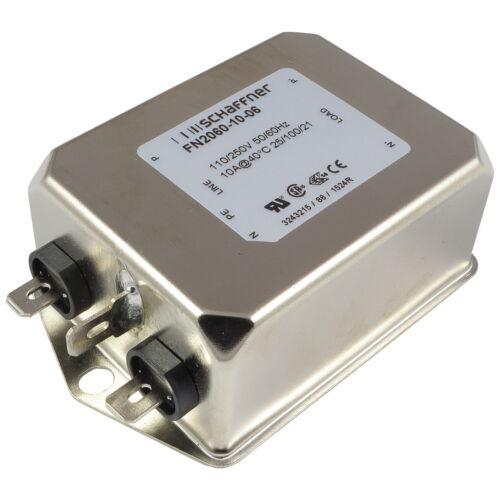 Schaffner FN2060-10-06 Netzfilter 250VAC 10A Single-Phase Filter 2-stufig 856780