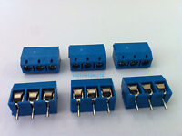 50pcs 3 Pin Screw Terminal Block Connector 5mm Pitch B