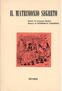 Cimarosa: Die Hochzeit Geheimfach - Heft Erinnerungen