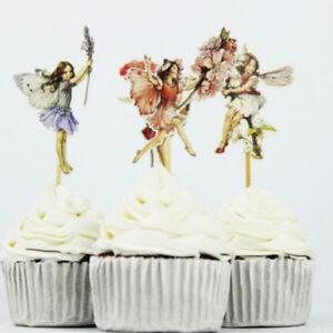 24pcs-Flower-Fairy-Cupcake-Topper-Food-Picks-Cake-Decor-for-Birthday-Party-LD