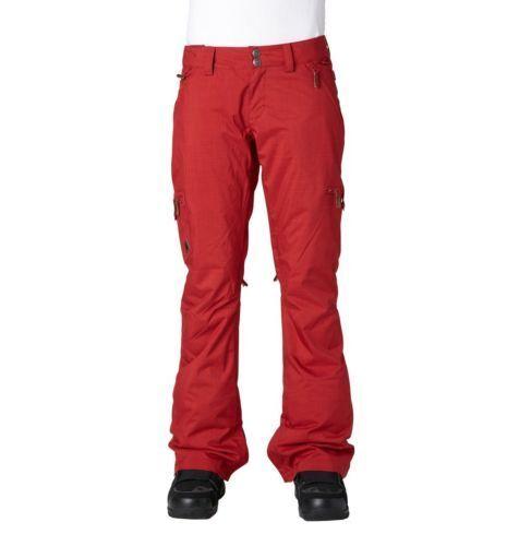 NWT DC Scarlett 15 SNOW PANTS Ski Board EXOTEX 10K Outerwear RIO RED Womens L
