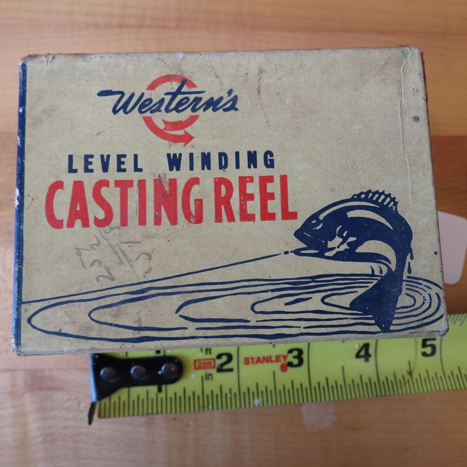 Vintage Western  Casting fishing reel Miles Bay box (lot)  best service