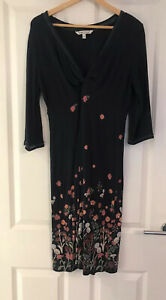 FAT-FACE-NAVY-BLUE-FLORAL-KNOTTED-MIDI-DRESS-SIZE-14
