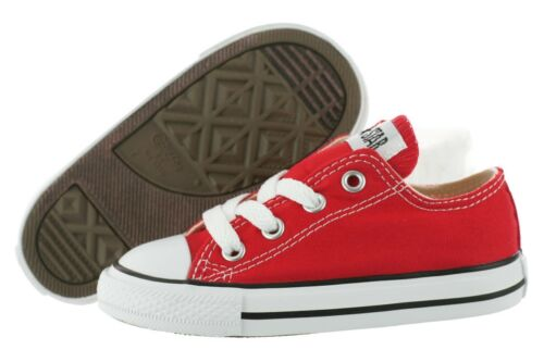 Converse All Star Chuck OX 7J236 Canvas Red Kids Baby Toddler Shoes