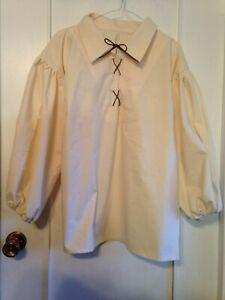 New Handmade Renaissance Men/'s Peasant Shirt Size Small Various Colors