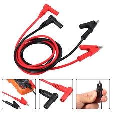Electronic Test Lead Banana Plug To Alligator Clip Cable For Multimeter 328ft